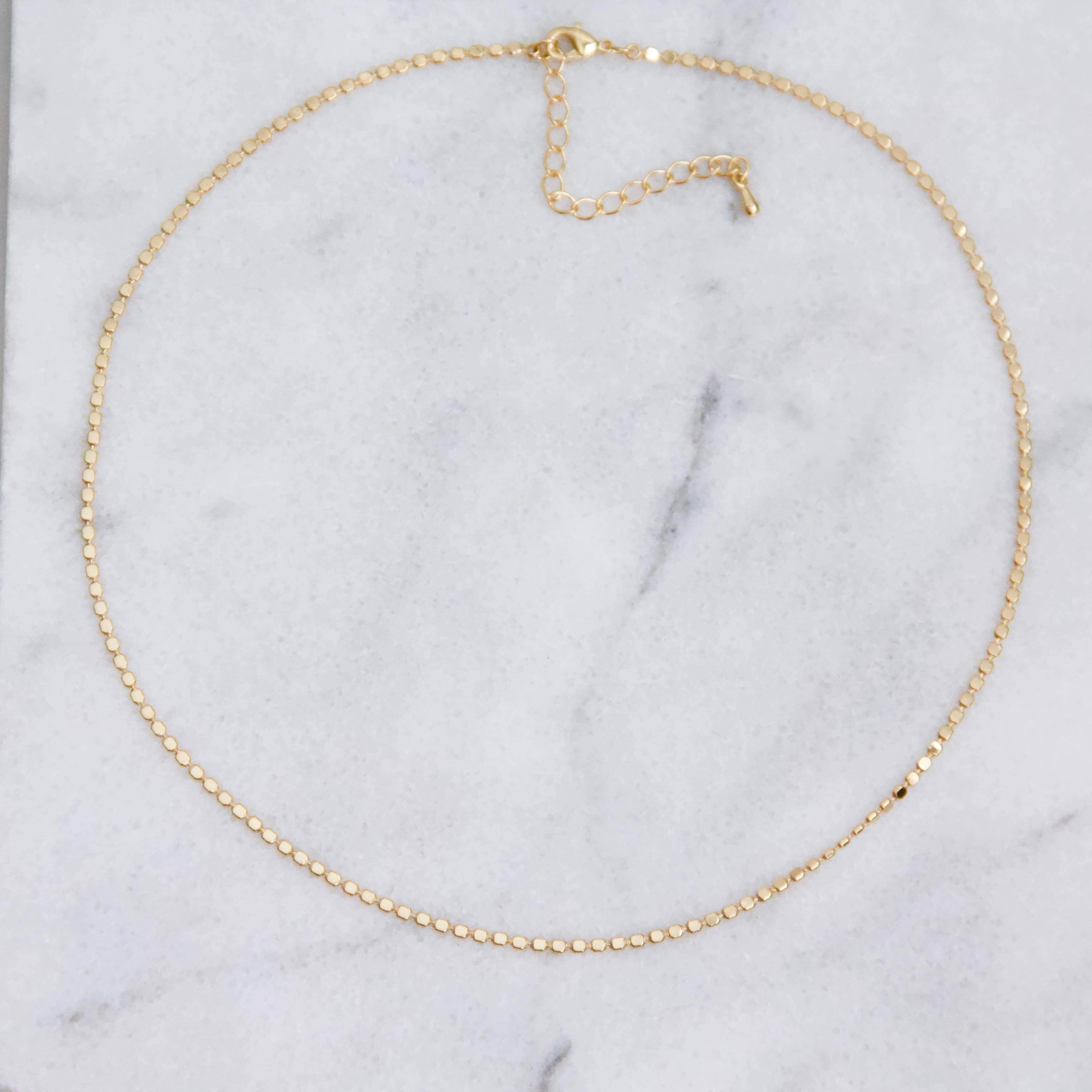 Fancy Coin Choker Necklace