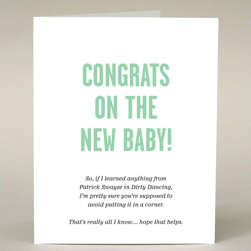 Congrats On The New Baby - Patrick Swayze Card