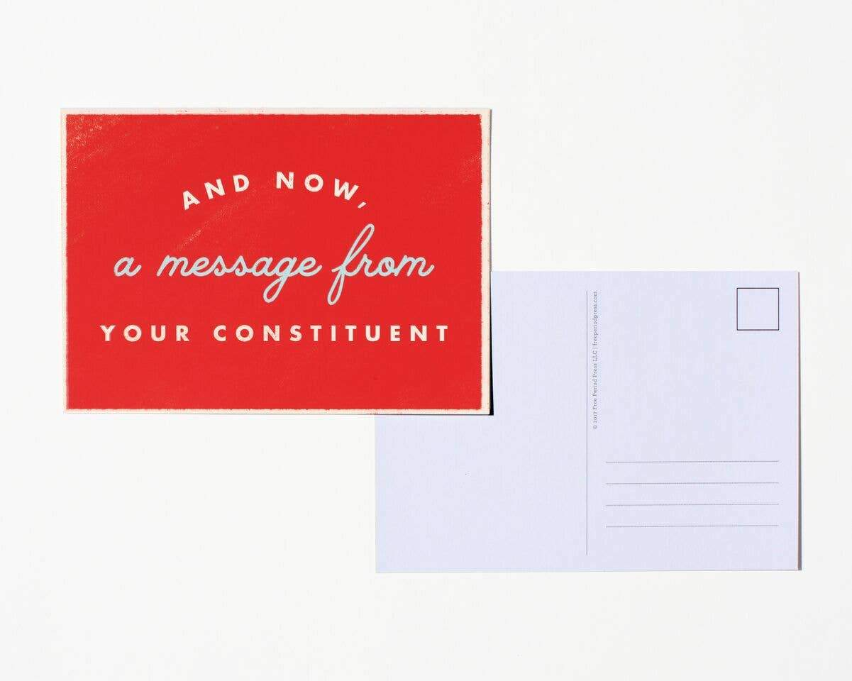 A Message from Your Constituent Postcard