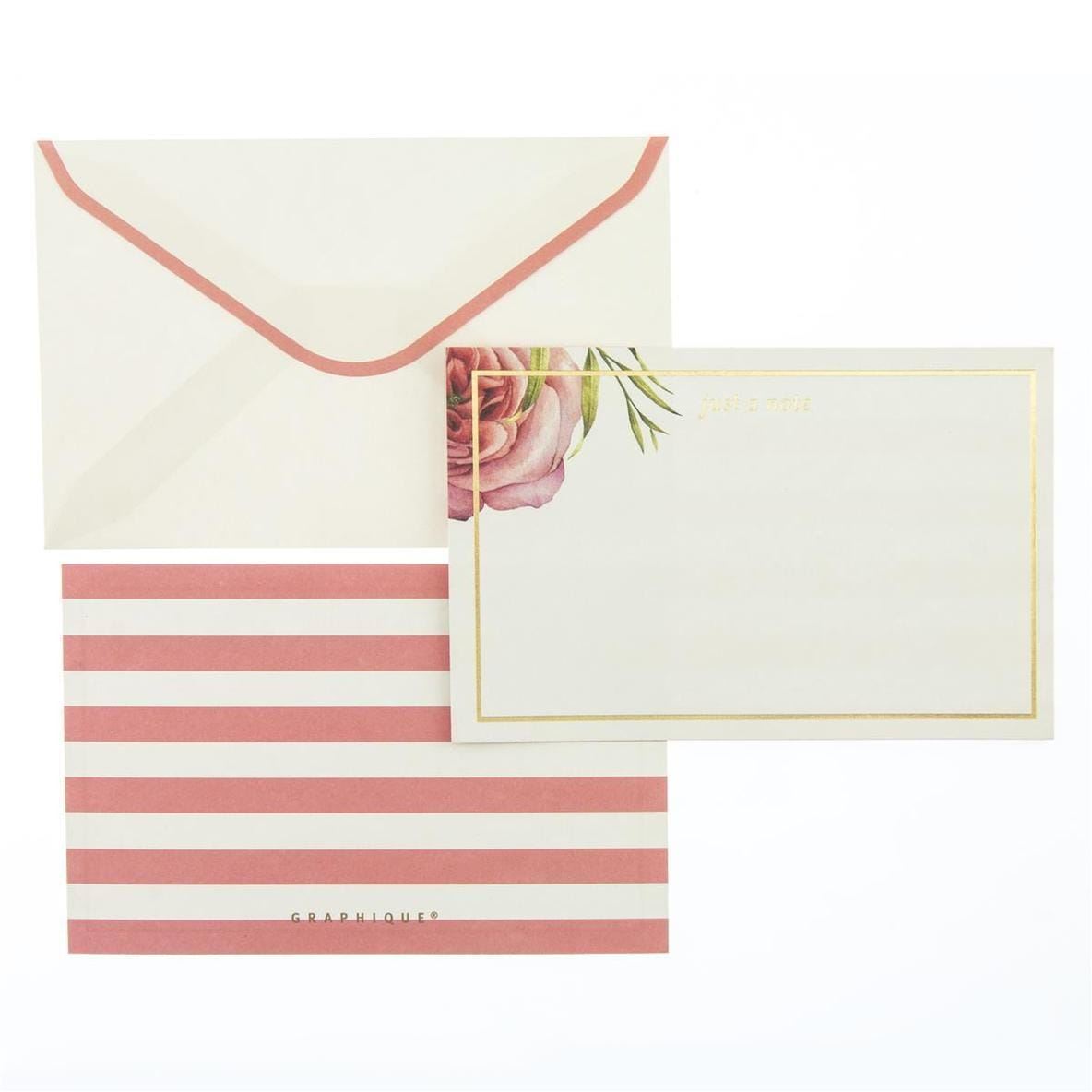 Coral Floral Flat Notes