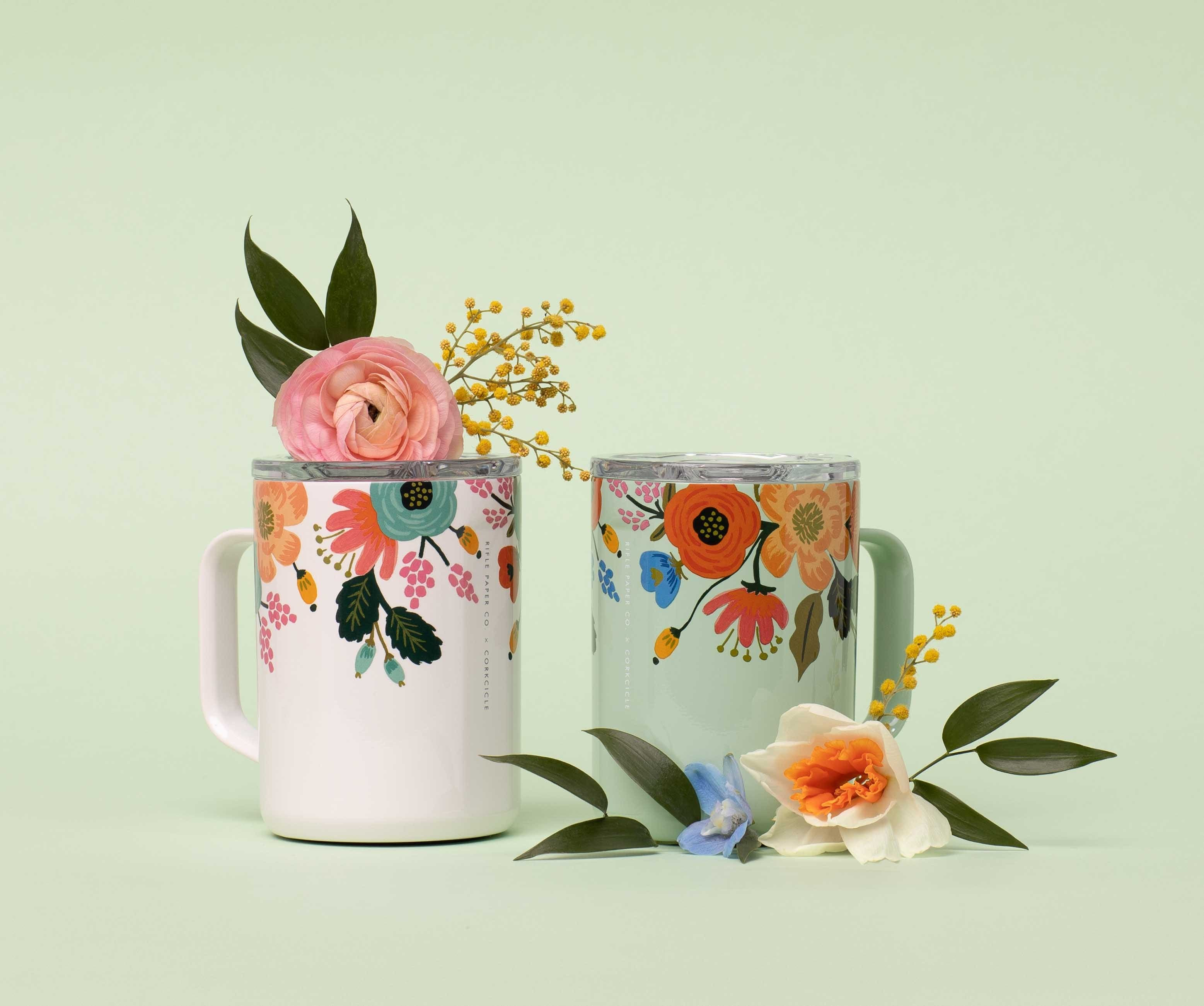 Rifle Paper Co. x Corkcicle Mug - Cream Lively Floral