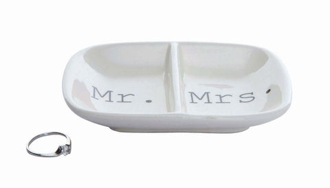 "2-Section Dish ""Mr./Mrs."""