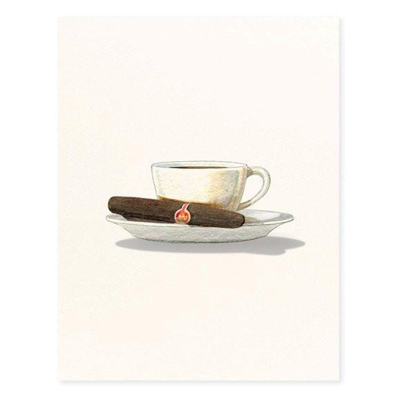 Dark Roast and Cigar Card