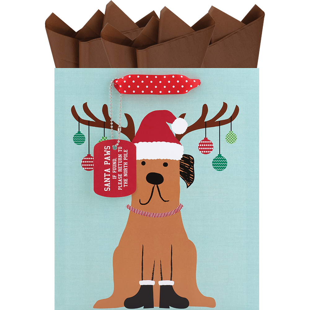 Decked Out Dog Large Gift Bag