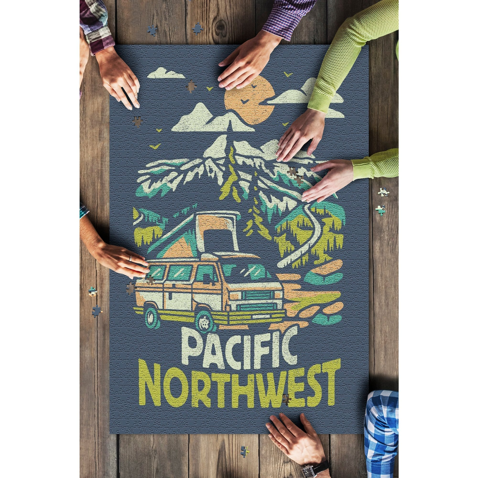 Pacific Northwest, Mountain Scene 1000 Piece Puzzle