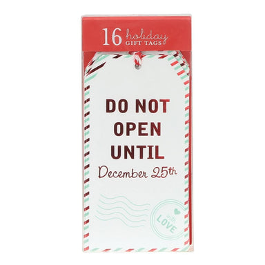 Do Not Open Gift Tags