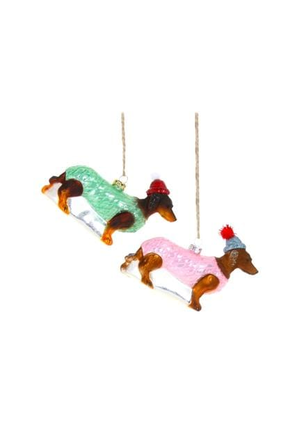 Glass Dachshund Ornament