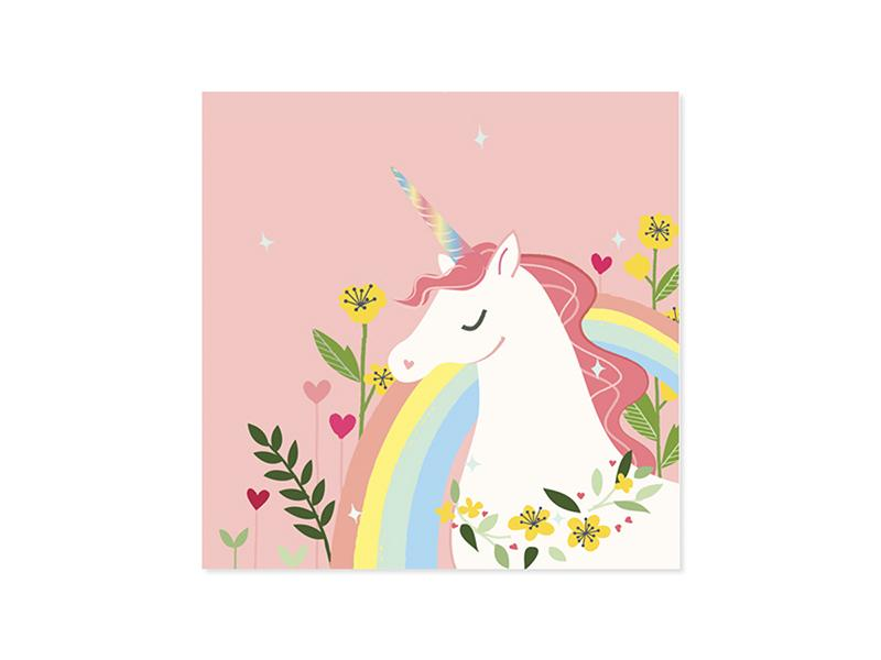 Enchanted Unicorn Valentine Pop-Up Card