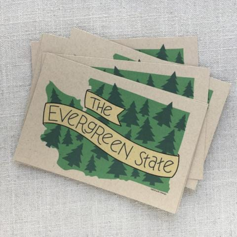 The Evergreen State Postcard