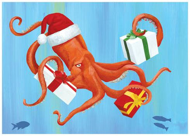 Mr. Squid Boxed Holiday Cards