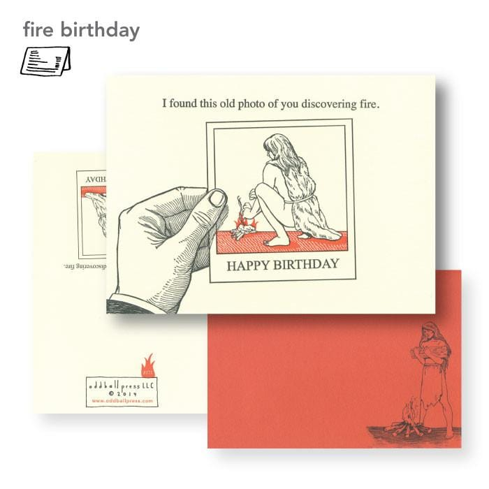 Fire Birthday Card