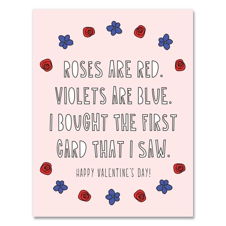 First Valentine I Saw Card