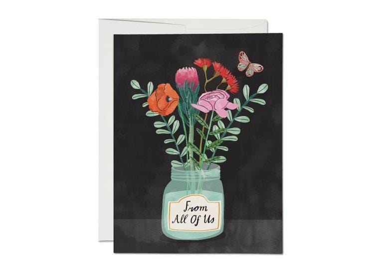 Flowers From Us Encouragement Card