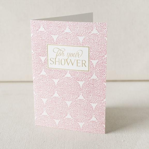 For Your Shower Letterpress Card