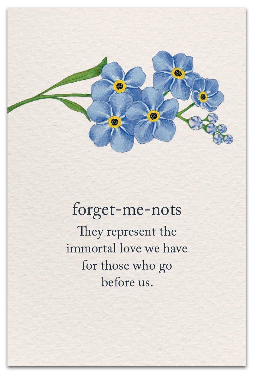 Forget-me-nots Sympathy Card