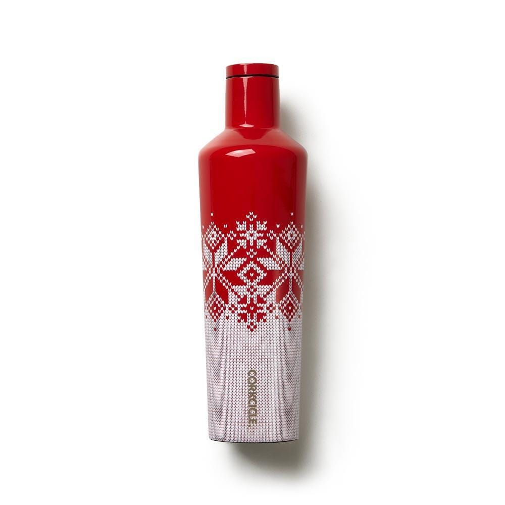 Corkcicle Fairisle Red Canteen - 25 oz.
