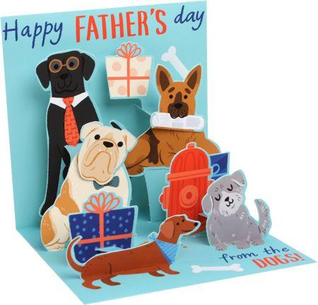 From The Dogs Father's Day Pop-Up Card