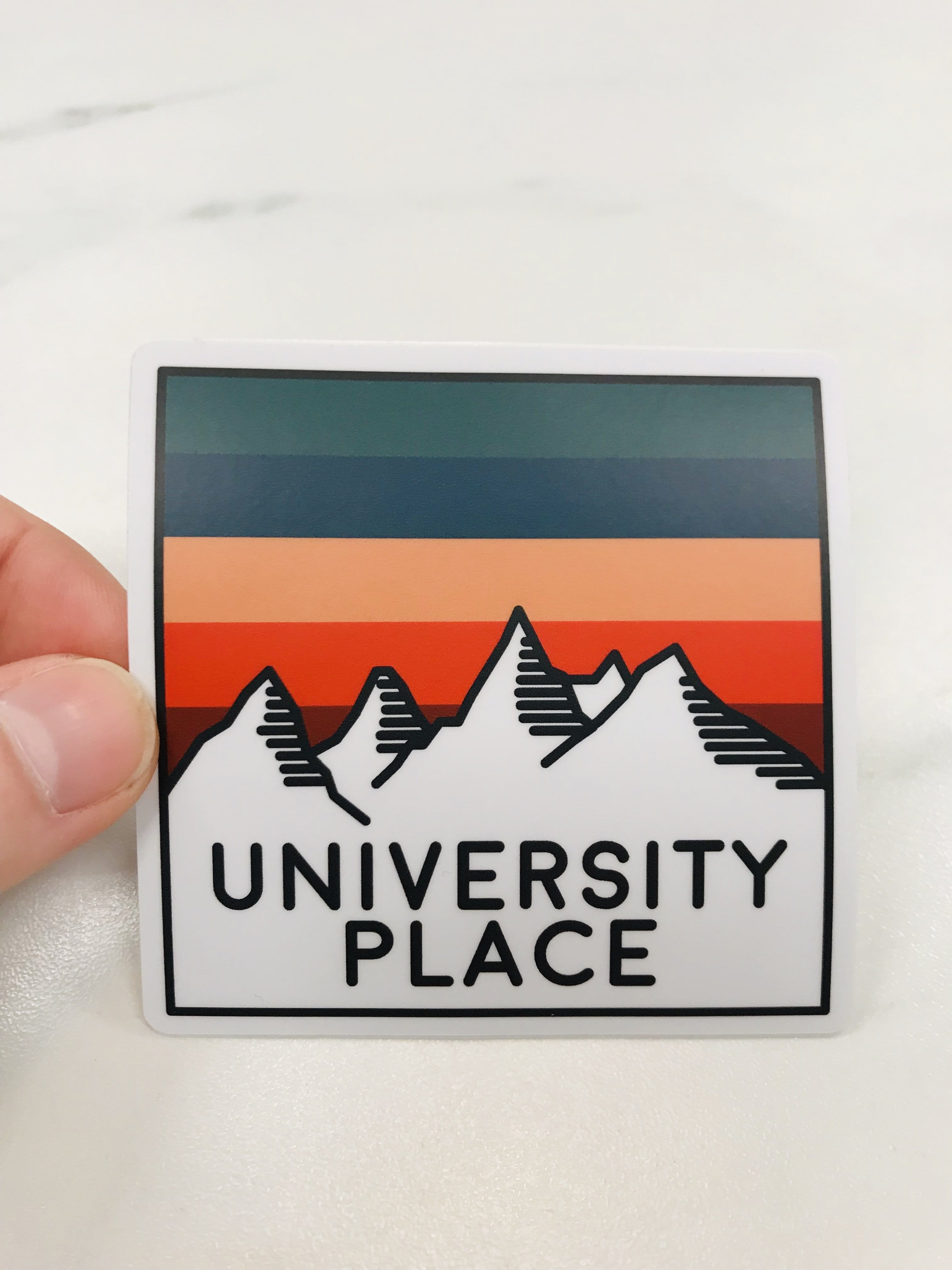 University Place Mountains Sticker
