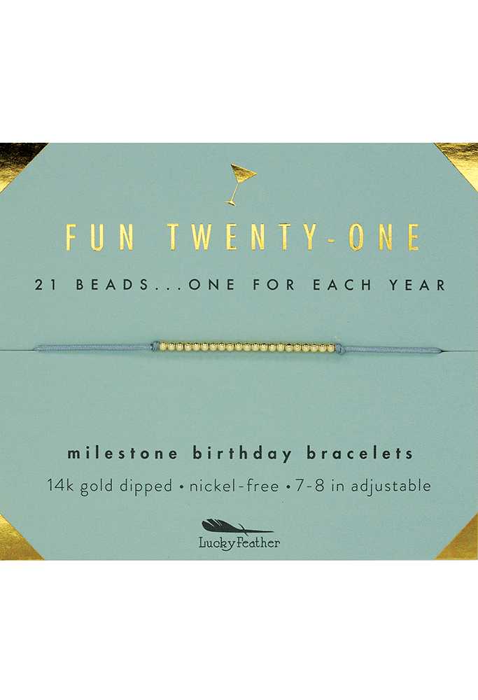 Birthday Milestone Bracelet - Fun Twenty-One