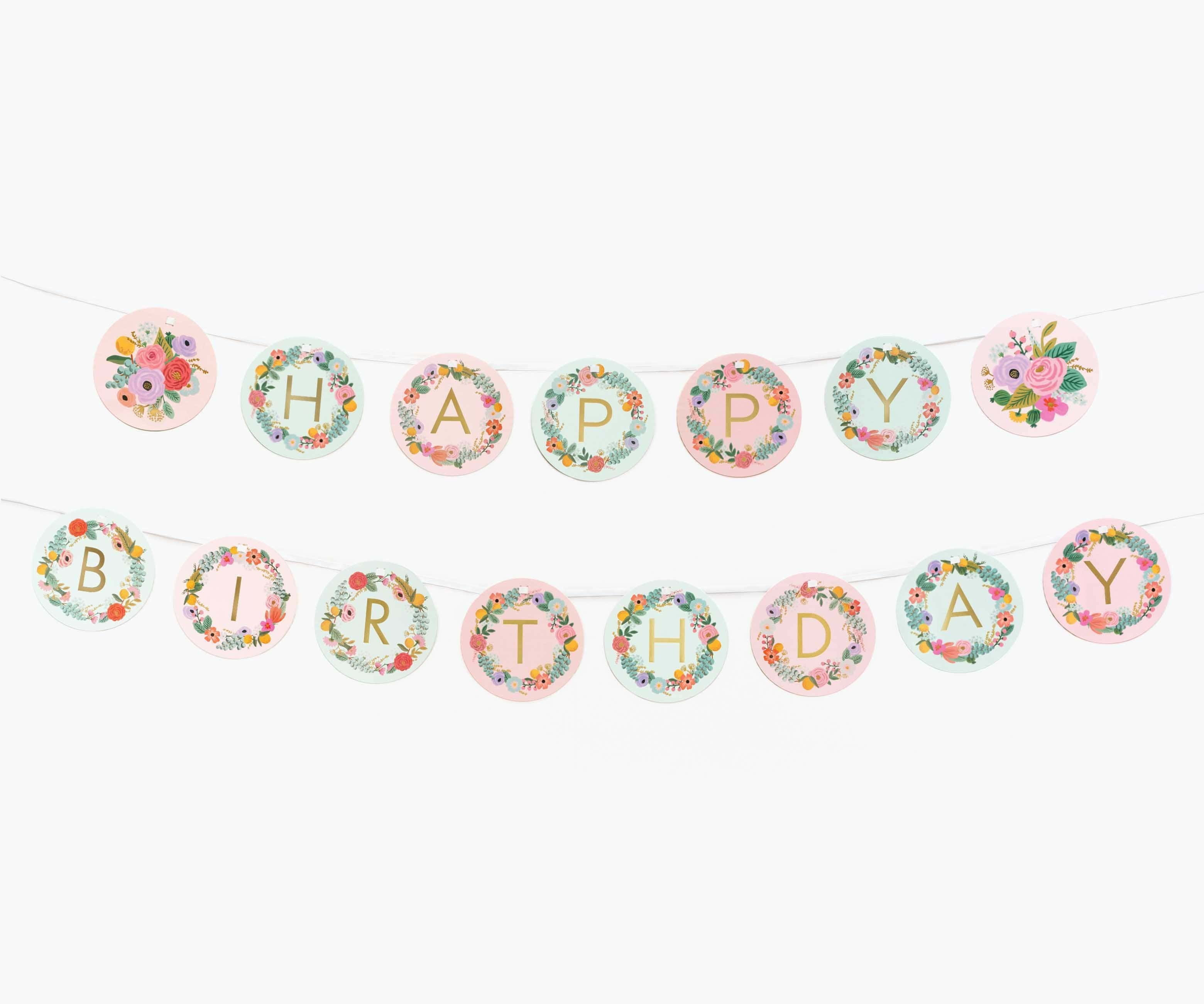 Garden Party Letter Garland Kit