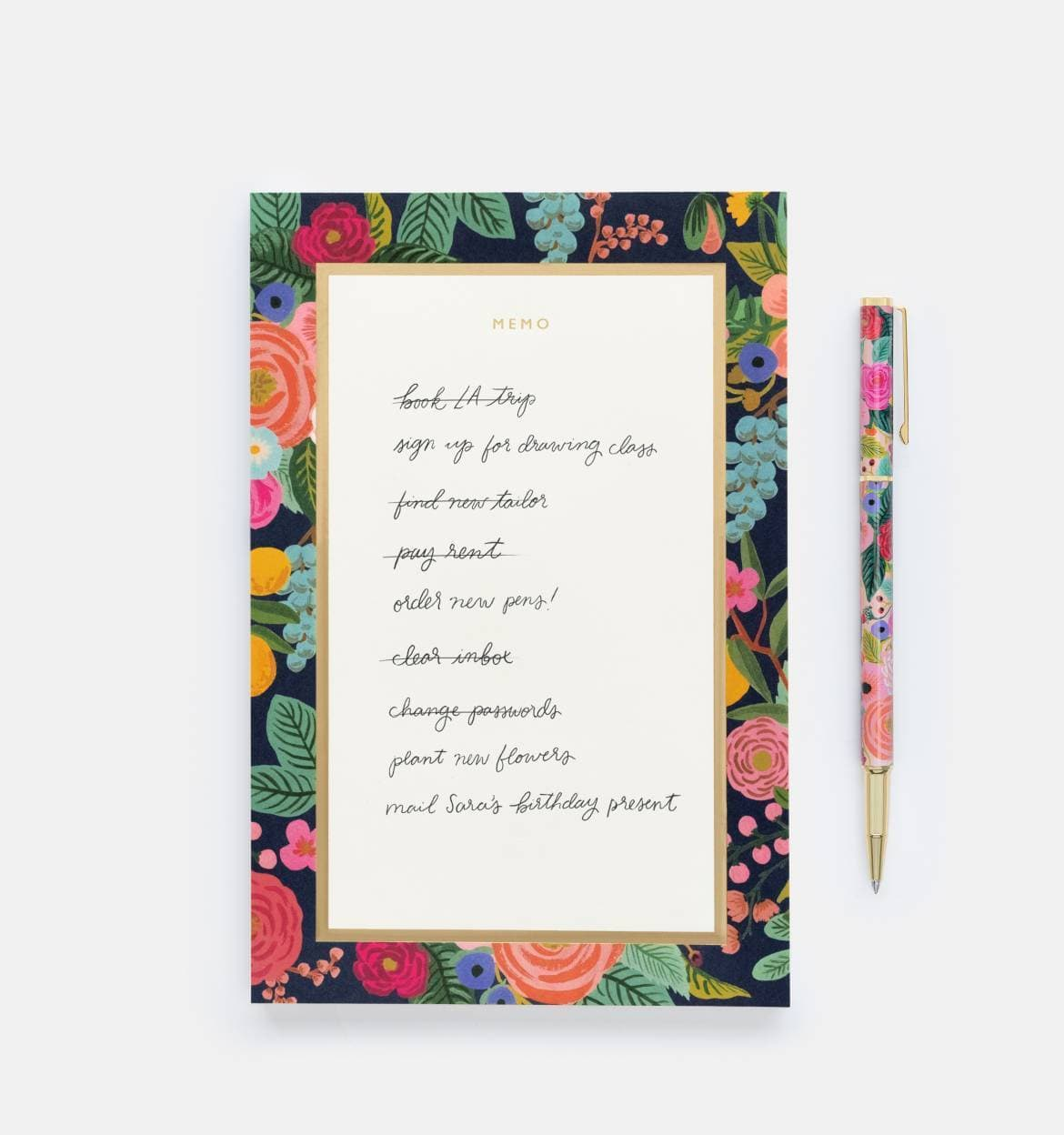 Garden Party Large Memo Pad