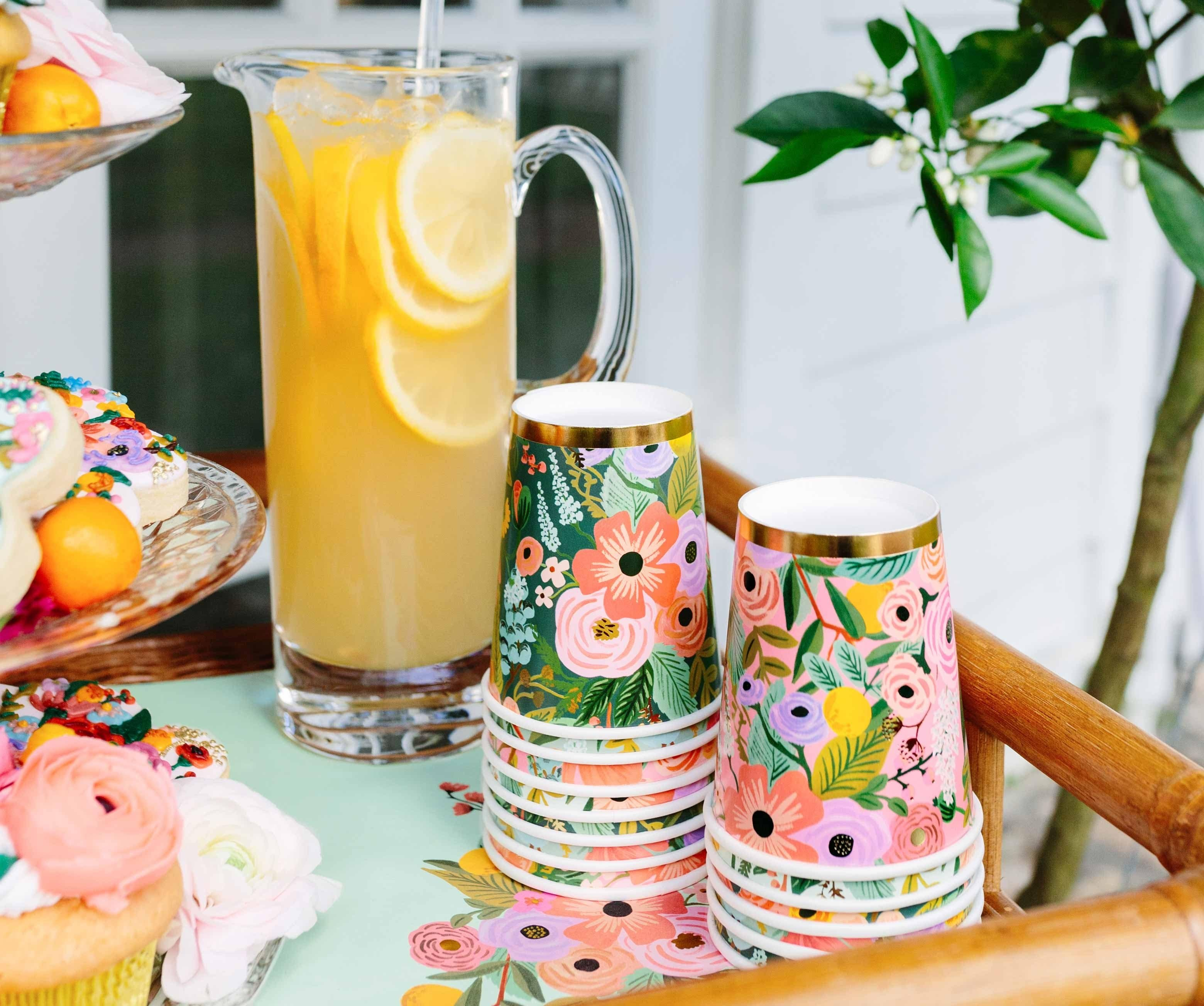 Garden Party Paper Cups