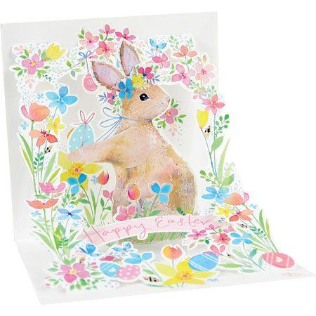 Garden Rabbit Pop-Up Card