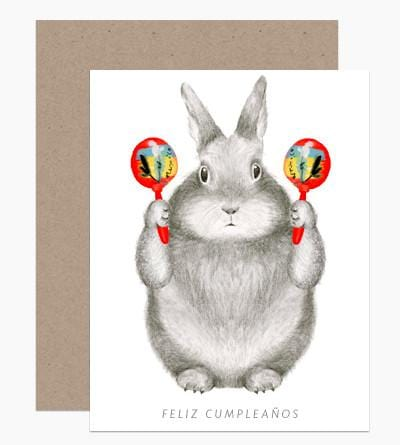The Birthday Bunny Maracas Card