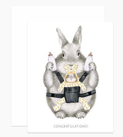 New Parent Bunny Card