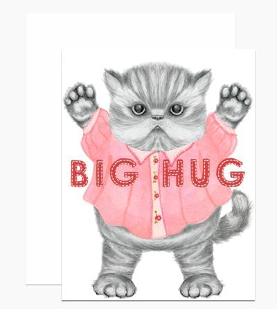 Big Hug Kitten Card
