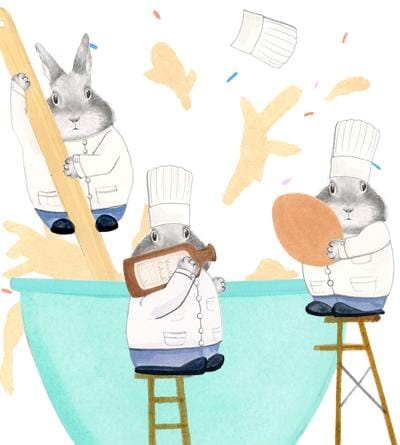 Bunny Cooks Card