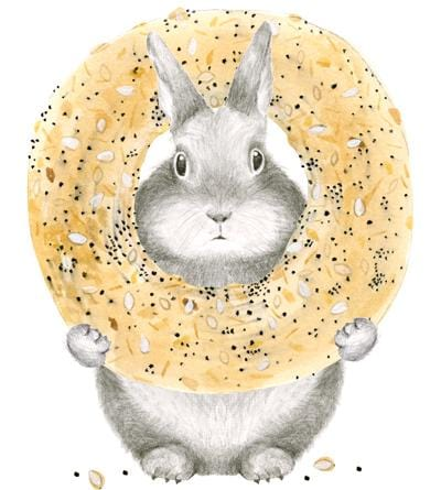 Everything Bagel Bunny Card