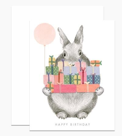 Bunny with Gifts Card