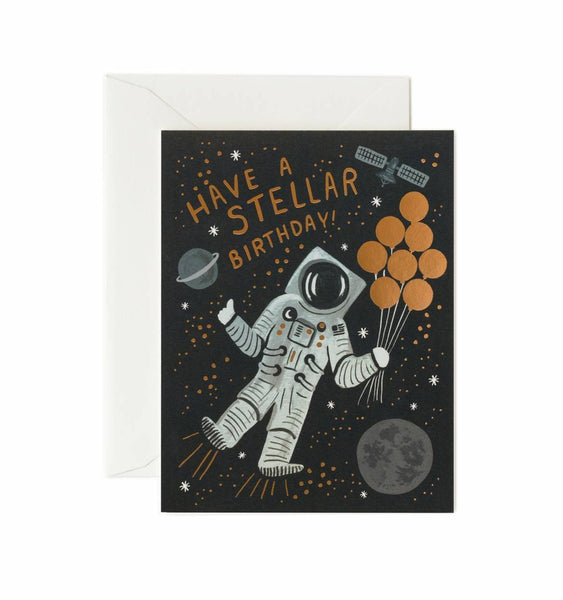 Stellar Spaceman Birthday Card