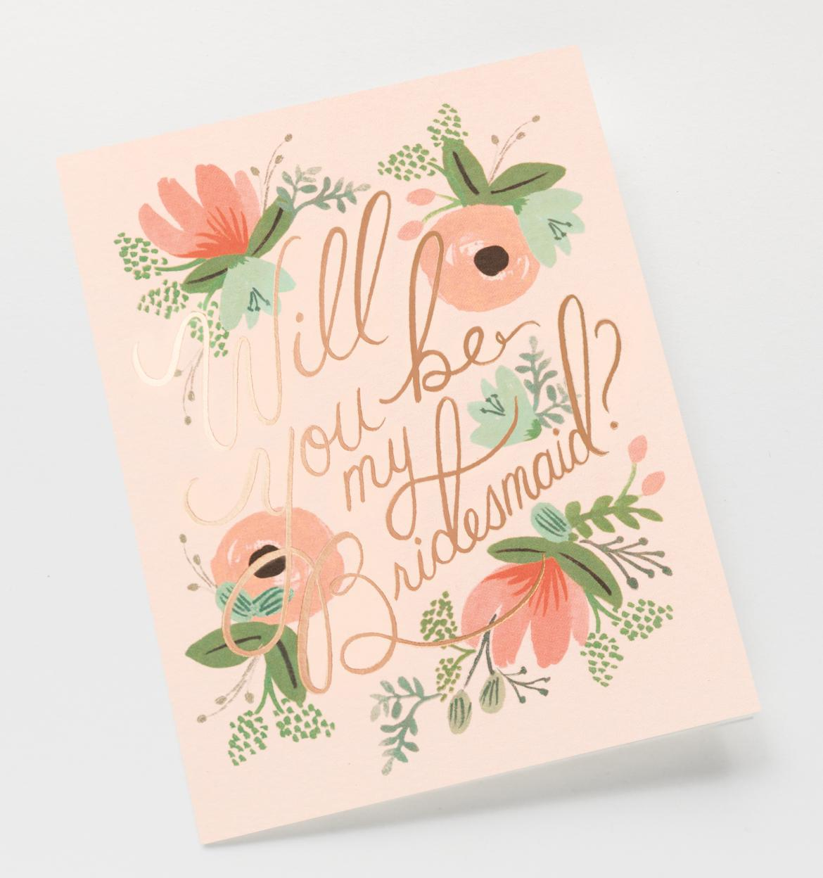 Blushing Bridesmaid Card