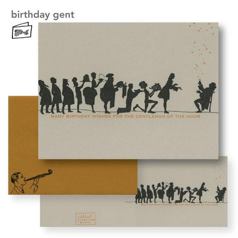 Gentleman of the Hour Birthday Card