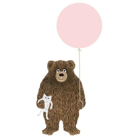 Birthday Bear Girl Card