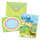 Girls and Castle Birthday Card