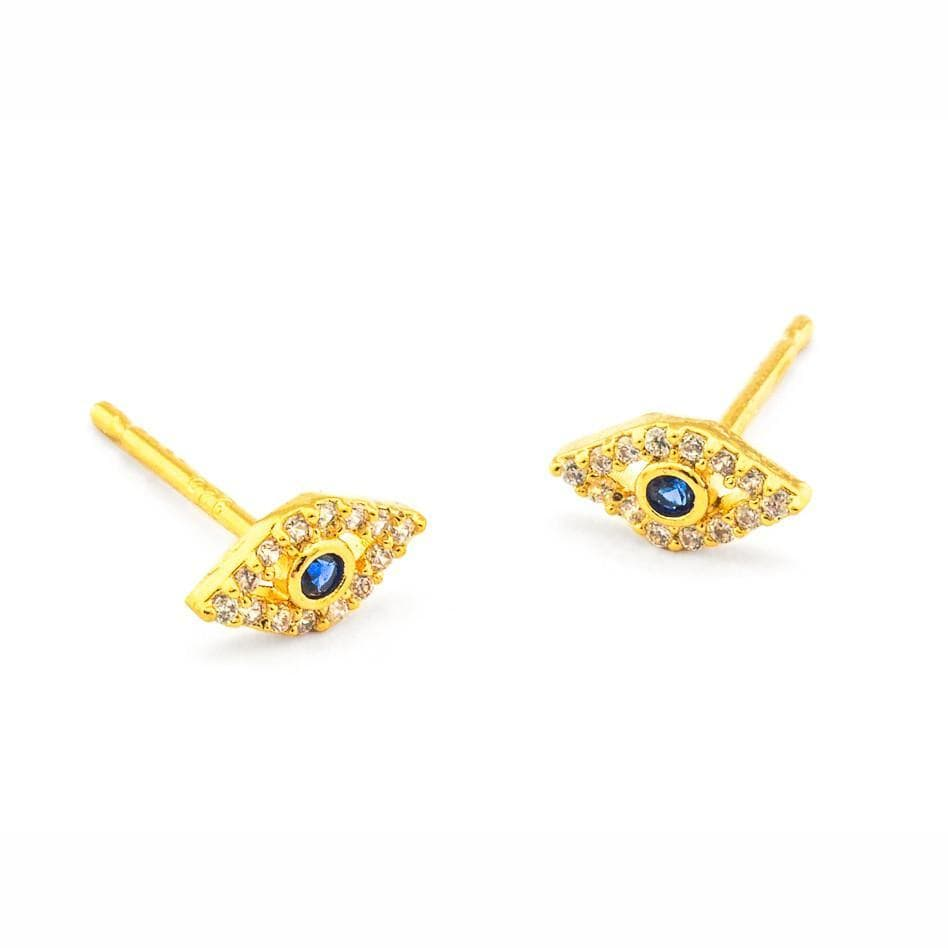 Evil Eye Earrings - Gold