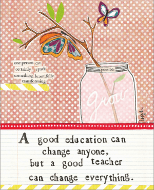 Good Teacher card