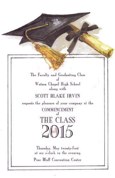 Graduation Ph.D. Blank Invitations