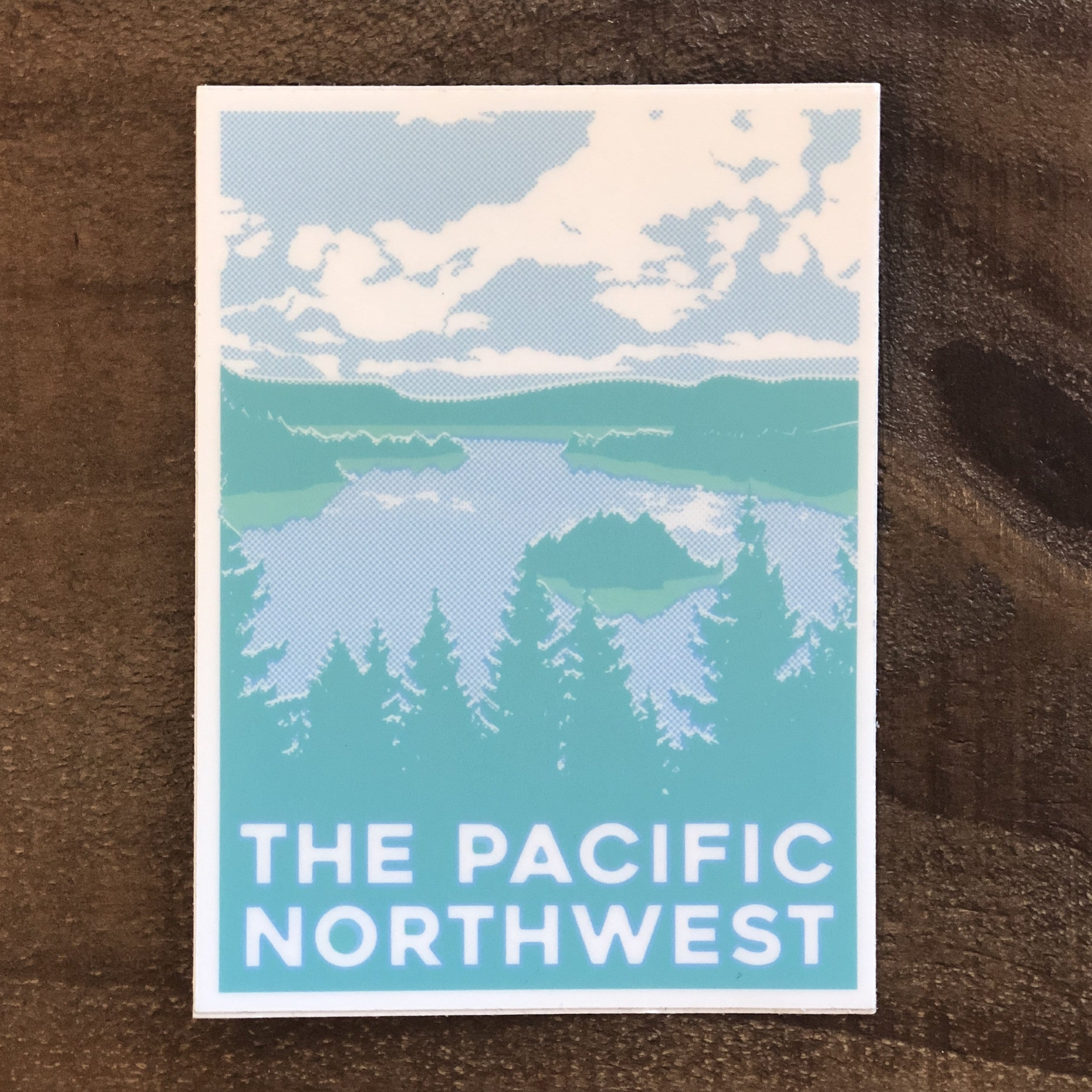 Blue and Green Pacific Northwest Card
