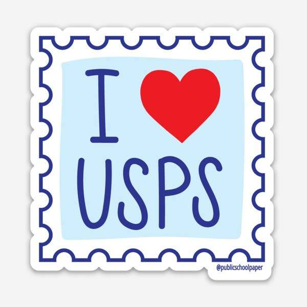 "I ""Heart"" USPS Vinyl Sticker"