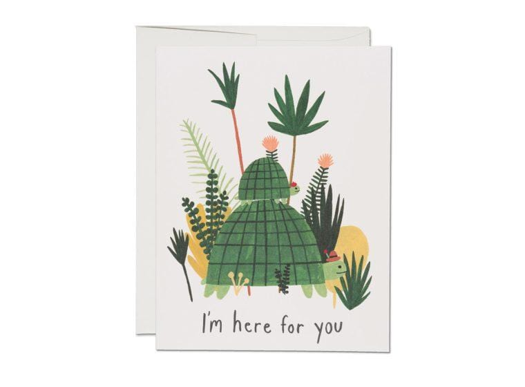 Here For You Turtles Card