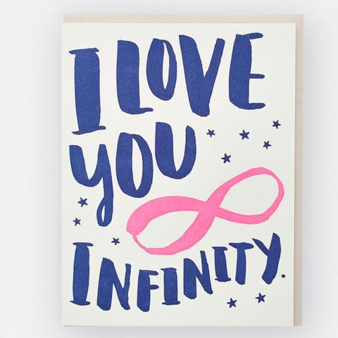 I Love You Infinity Card