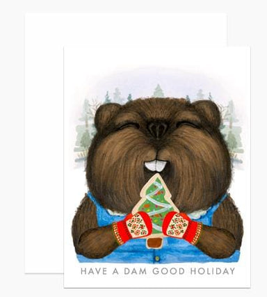 Holiday Beaver Card