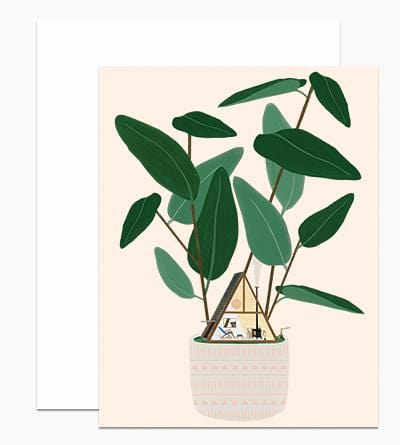 A-Frame House Plant Card