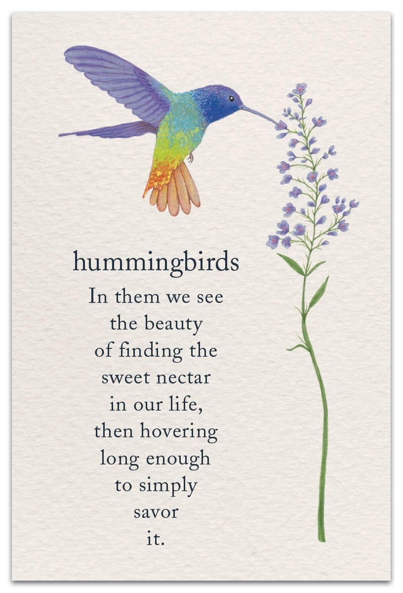 Hummingbirds Birthday Card
