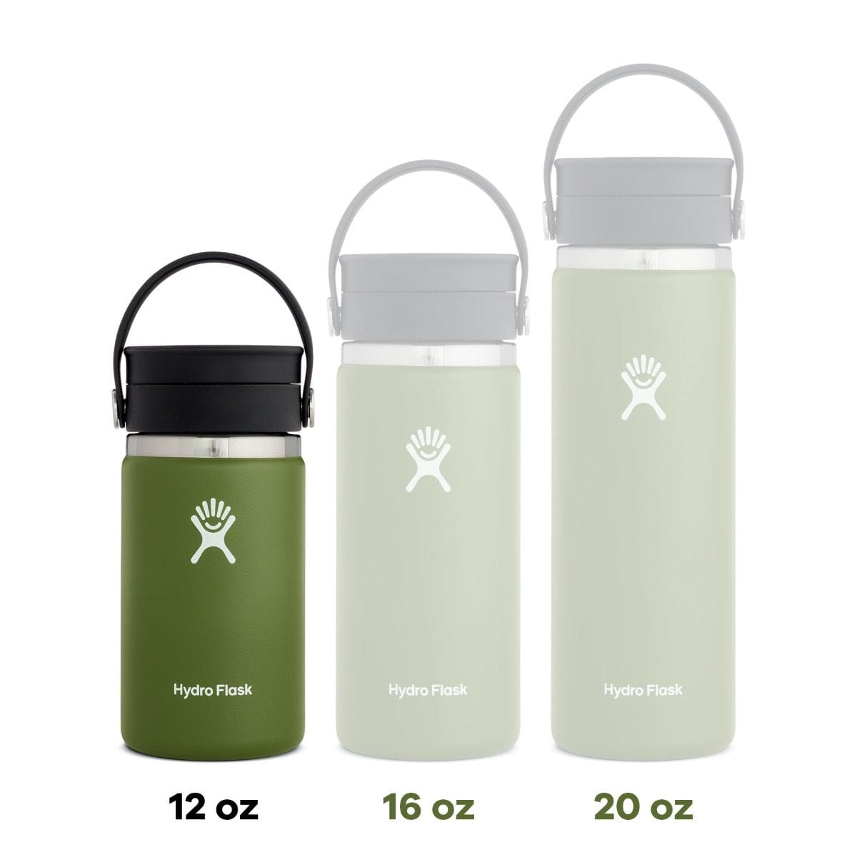 12 oz. Wide Mouth Coffee Hydro Flask - Black
