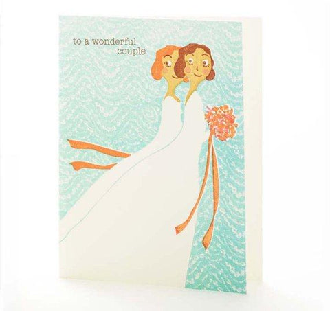 Brides To A Wonderful Couple Card